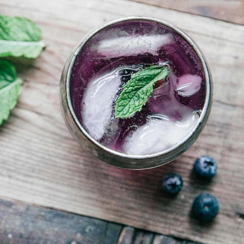 Blueberry menta Gin-2